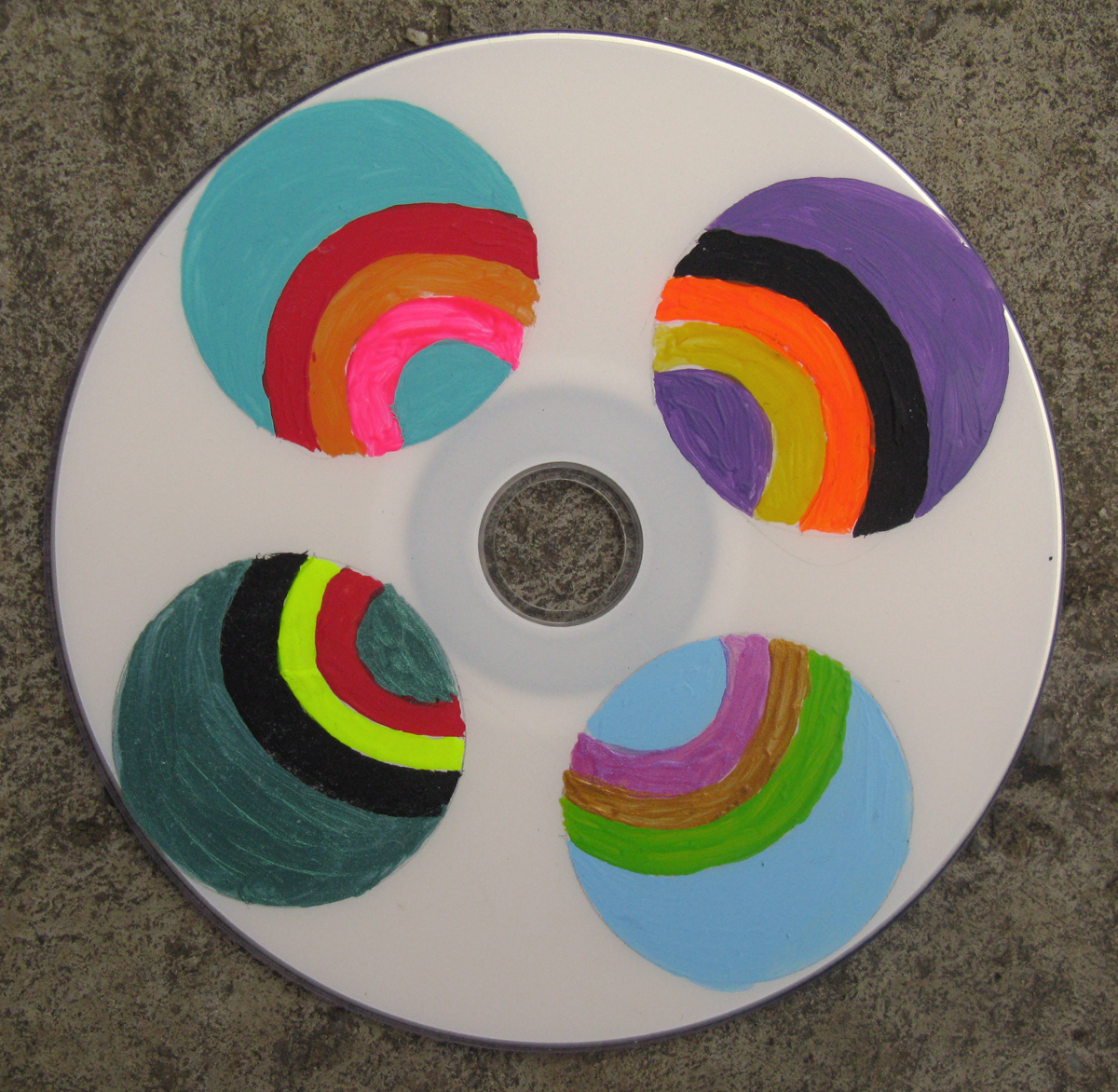 "CD Rohling "" Der Ball ist rund (90 min.)"", Acryl, 2020"